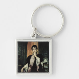 Anna Karenina, 1904 Silver-Colored Square Keychain