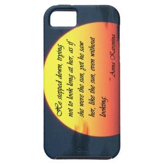 Anna Karenina Saw Her Like the Sun Love Quote iPhone SE/5/5s Case