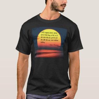 Anna Karenina Saw Her Like the Sun Love Quote T-Shirt
