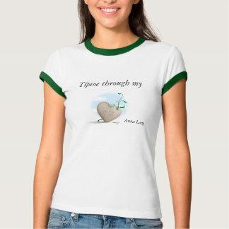Anna Lang t shirt ' Tip toe through my heart'