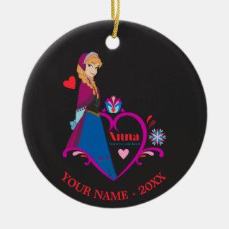 Anna - Listen to Your Heart Ceramic Ornament