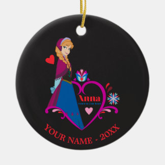 Anna - Listen to Your Heart Double-Sided Ceramic Round Christmas Ornament