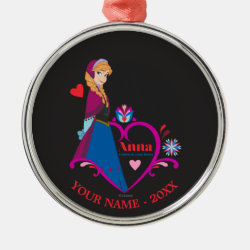 Premium circle Ornament with Disney's Frozen Christmas Ornaments design