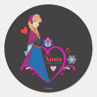 Anna - Listen to Your Heart Classic Round Sticker