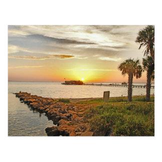 Anna Maria City Pier at Sunrise Postcard