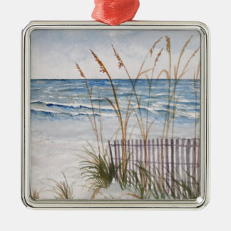 Anna Maria Island Beach Metal Ornament