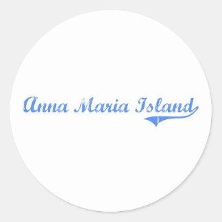 Anna Maria Island Florida Classic Design Round Stickers