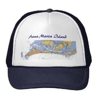 Anna Maria Island Florida Nautical Chart Hat