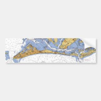 Anna Maria Island Florida Nautical Chart sticker Bumper Stickers