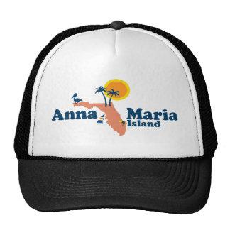 Anna Maria Island - Map Design. Mesh Hat