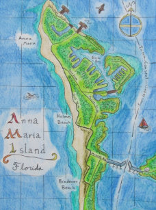 Map Of Anna Maria Island Florida.Anna Maria Island Gifts On Zazzle