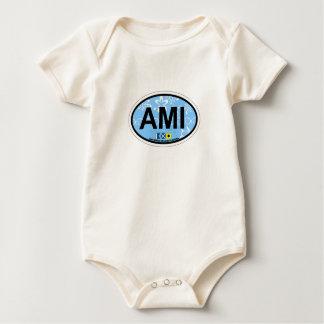 Anna Maria Island - Oval Design. Baby Bodysuit