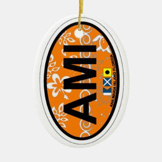 Anna Maria Island - Oval Design. Ceramic Ornament