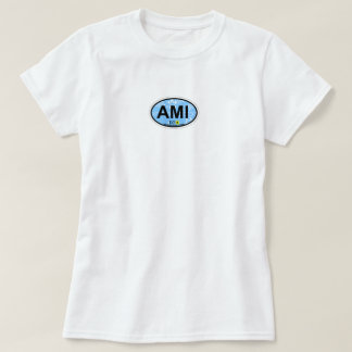 Anna Maria Island - Oval Design. T-Shirt