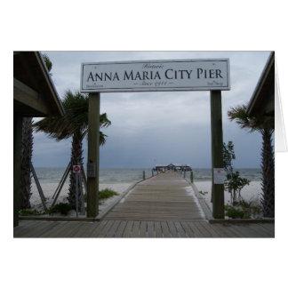 Anna Maria Island pier greetings card