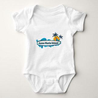 Anna Maria Island - Surf Design. Baby Bodysuit