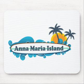 Anna Maria Island - Surf Design. Mouse Pad