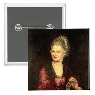 Anna Maria Mozart, nee Pertl 2 Inch Square Button