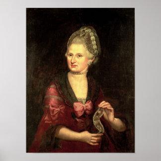 Anna Maria Mozart, nee Pertl Poster