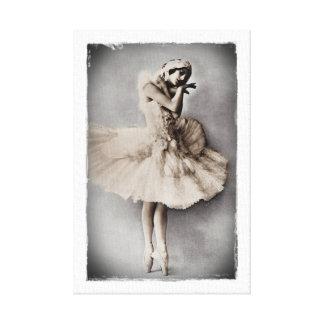 Anna Pavlova Posed en Pointe Canvas Print