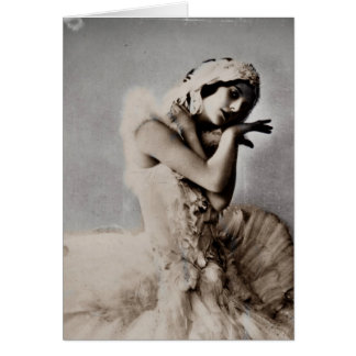Anna Pavlova Posed en Pointe Card