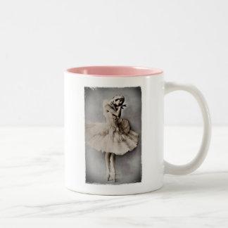 Anna Pavlova Posed en Pointe Two-Tone Coffee Mug
