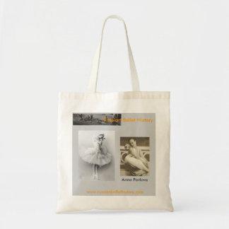 Anna Pavlova-Swan Tote Bag