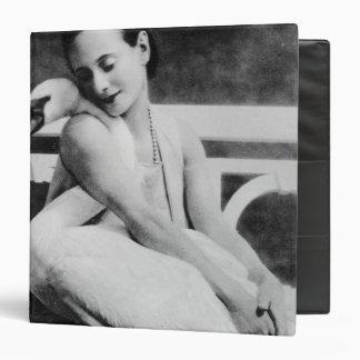 Anna Pavlova with her pet swan Jack, c.1905 3 Ring Binder