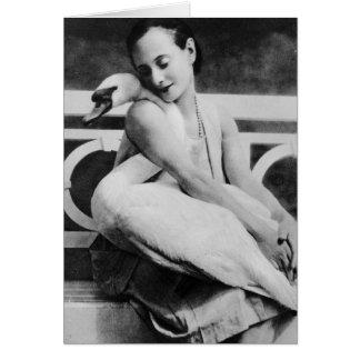 Anna Pavlova with her pet swan Jack c 1905 Card