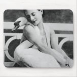 Anna Pavlova with her pet swan Jack, c.1905 Mouse Pad