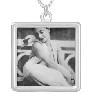Anna Pavlova with her pet swan Jack c 1905 Necklaces