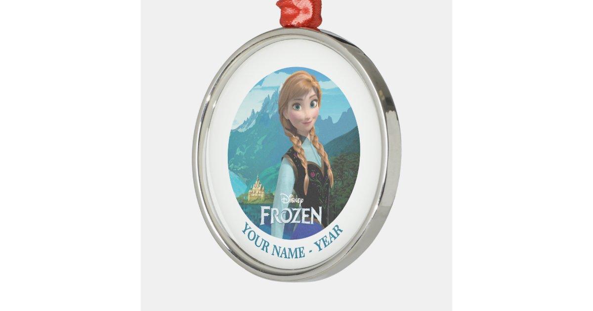 Anna personalized metal ornament zazzle