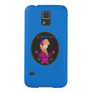 Anna | Portrait in Black Circle Case For Galaxy S5