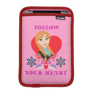 Anna | Portrait in Red Heart iPad Mini Sleeve