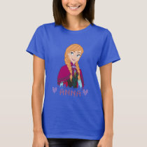 Anna | Portrait with Name T-Shirt