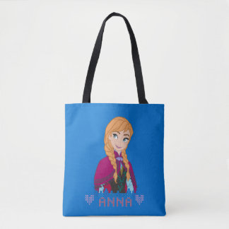 Anna | Portrait with Name Tote Bag