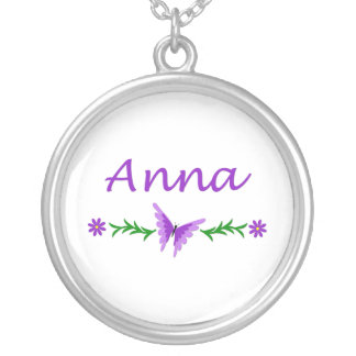 Anna (Purple Butterfly) Silver Plated Necklace