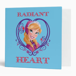 Avery Signature 1' Binder with Anna of Disney's Frozen: Radiant Heart design