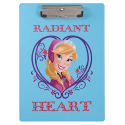 Clipboard with Anna of Disney's Frozen: Radiant Heart design