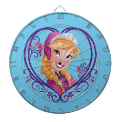 Megal Cage Dart Board with Anna of Disney's Frozen: Radiant Heart design