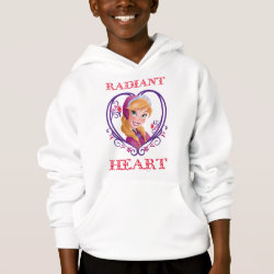 Girls' American Apparel Fine Jersey T-Shirt with Anna of Disney's Frozen: Radiant Heart design