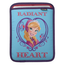 iPad Sleeve with Anna of Disney's Frozen: Radiant Heart design