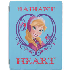 iPad 2/3/4 Cover with Anna of Disney's Frozen: Radiant Heart design