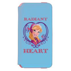 Incipio Watson™ iPhone 6 Wallet Case with Anna of Disney's Frozen: Radiant Heart design