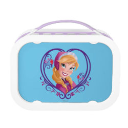 Purple yubo Lunch Box with Anna of Disney's Frozen: Radiant Heart design