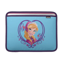 Macbook Air Sleeve with Anna of Disney's Frozen: Radiant Heart design