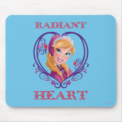 Mousepad with Anna of Disney's Frozen: Radiant Heart design