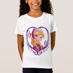 Girls' Fine Jersey T-Shirt with Anna of Disney's Frozen: Radiant Heart design