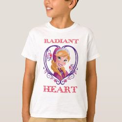 Kids' Hanes TAGLESS® T-Shirt with Anna of Disney's Frozen: Radiant Heart design