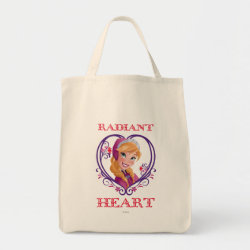 Grocery Tote with Anna of Disney's Frozen: Radiant Heart design